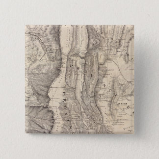 Carte, provinces de La Rioja San Juan 15 Cm Square Badge