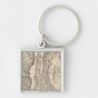 Carte, provinces de La Rioja San Juan Silver-Colored Square Key Ring