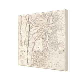 Carte, provinces of Salta in Jujuy Canvas Print