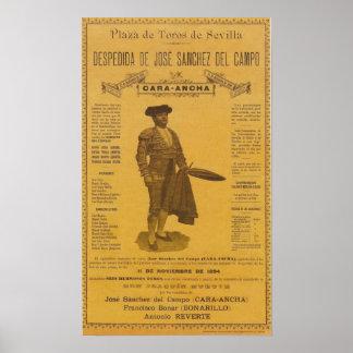 Cartel para la despedida del torero Bull Fighter Poster