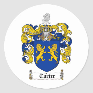 CARTER FAMILY CREST -  CARTER COAT OF ARMS STICKERS