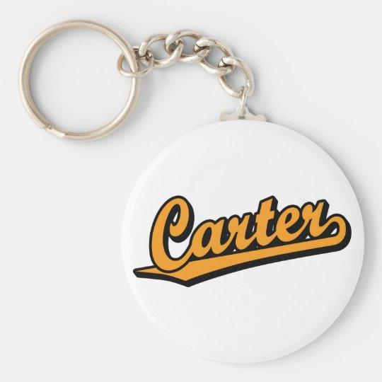 Carter in Orange Basic Round Button Key Ring