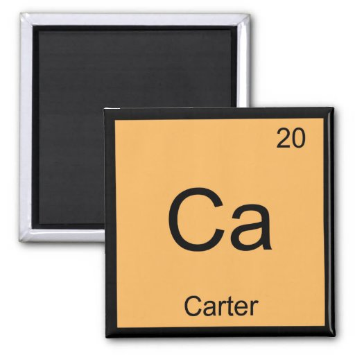 Carter Name Chemistry Element Periodic Table Magnet
