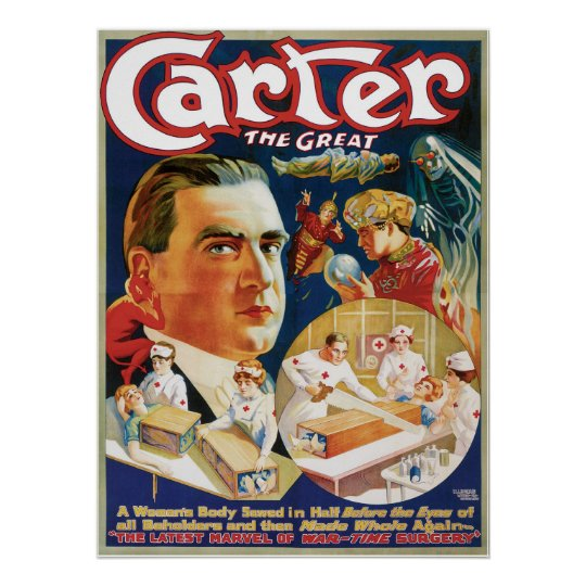 Carter The Great ~ The Saw Vintage Magic
