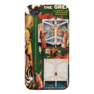 Carter The Great ~ Weird Wizard Vintage Magic Act iPhone 4/4S Covers