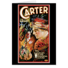 Carter The Great ~ Wizard Vintage Magic Act Card