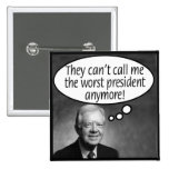 Carter: They can't call me the worst! 15 Cm Square Badge