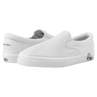 Carter Wear - Zipz Slip On Shoes - White Printed Shoes