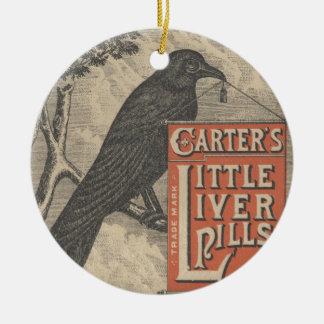 Carter's Little Liver Pills Ephemera Christmas Ornament