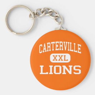 Carterville - Lions - High - Carterville Illinois Basic Round Button Key Ring