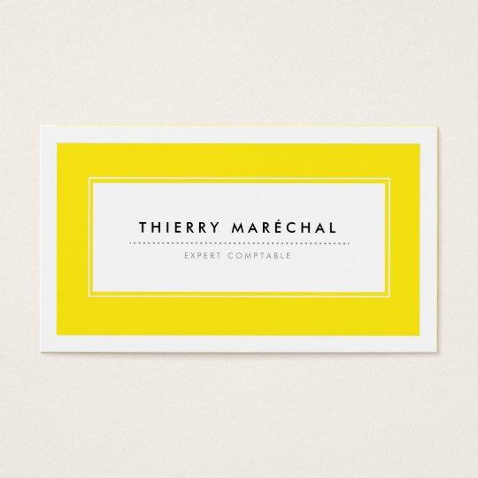 Cartes de Visite Modernes Jaunes Business Card