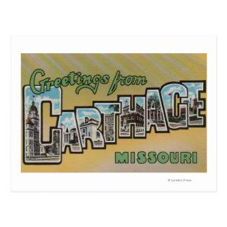 Carthage, Missouri - Large Letter Scenes Postcard