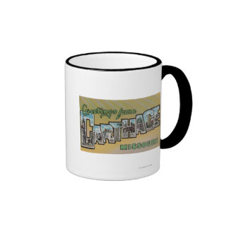 Carthage, Missouri - Large Letter Scenes Ringer Mug