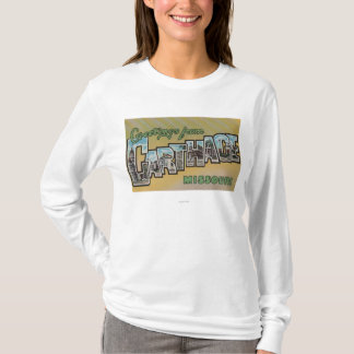 Carthage, Missouri - Large Letter Scenes T-Shirt