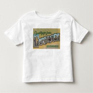 Carthage, Missouri - Large Letter Scenes Toddler T-Shirt