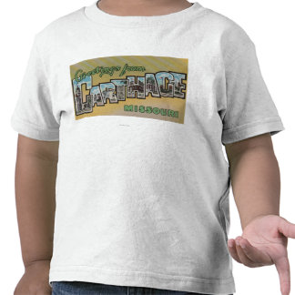 Carthage, Missouri - Large Letter Scenes T-shirts
