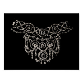 Cartierr Necklace Print Poster
