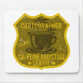 Cartographer Caffeine Addiction League Mouse Pad