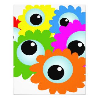 cartoon-268508 cartoon, eyes, flowers, nature, wac 11.5 cm x 14 cm flyer