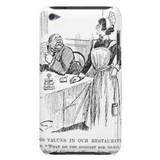 Cartoon about an educated waitress iPod touch case