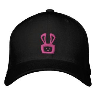 Cartoon Acid Oscar the Bunny Hat (Hot Pink Logo) Embroidered Baseball Cap