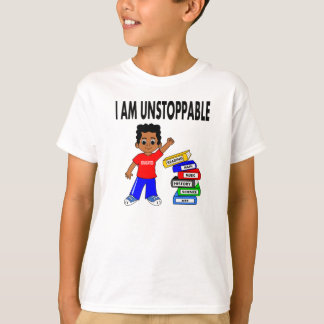 Cartoon African American Boy Books Smart T-shirt