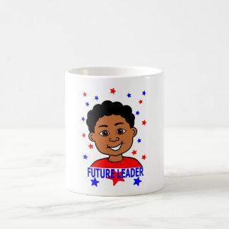Cartoon African American Boy Future Leader Coffee Mug