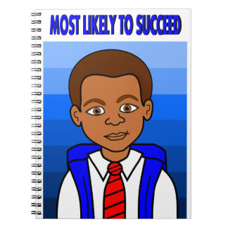 Cartoon African American Schoolboy with Backpack Notebook