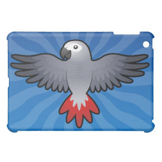 Cartoon African Grey / Amazon / Parrot Case For The iPad Mini