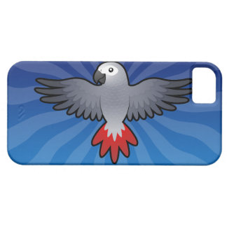 Cartoon African Grey / Amazon / Parrot iPhone 5 Covers