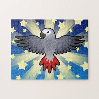 Cartoon African Grey / Amazon / Parrot Jigsaw Puzzle