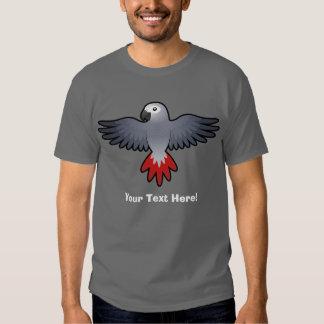 Cartoon African Grey / Amazon / Parrot Tee Shirts