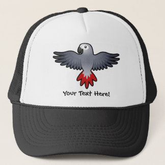 Cartoon African Grey / Amazon / Parrot Trucker Hat
