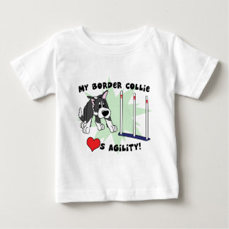 Cartoon Agility Border Collie Baby's T-Shirt