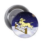 Cartoon Agility Dog Christmas 6 Cm Round Badge