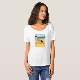 Cartoon Airedale Terrier Dog at Beach T-Shirt