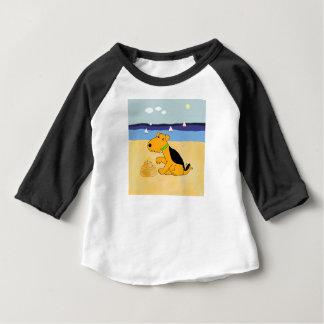 Cartoon Airedale Terrier Dog at the Beach Tshirt