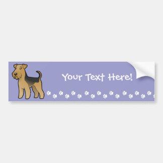 Cartoon Airedale Terrier / Welsh Terrier Bumper Sticker