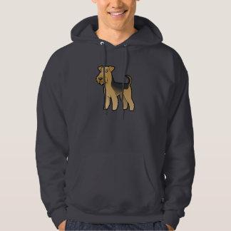 Cartoon Airedale Terrier / Welsh Terrier Hoodie