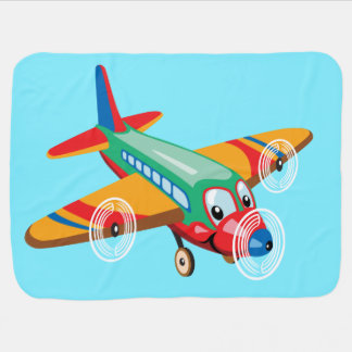 cartoon airplane baby blanket