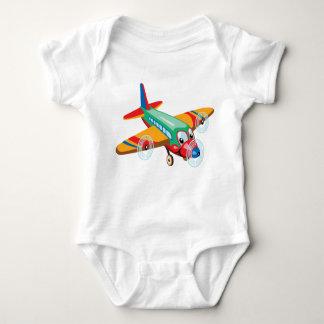 cartoon airplane baby bodysuit