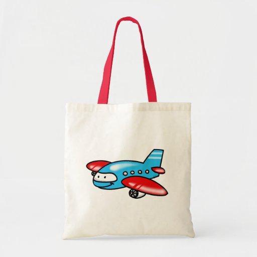 cartoon airplane tote bags