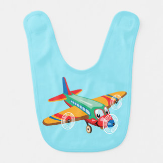 cartoon airplane bib