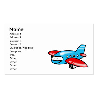 cartoon airplane Double-Sided standard business cards (Pack of 100)