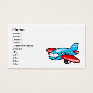 cartoon airplane business card