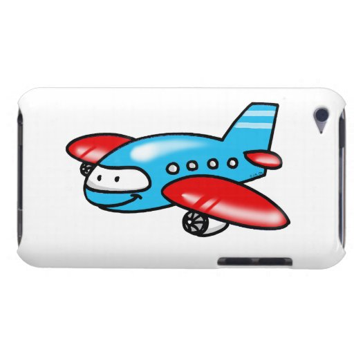 cartoon airplane barely there iPod covers