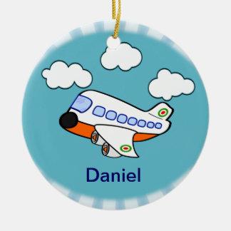Cartoon Airplane Christmas Ornament