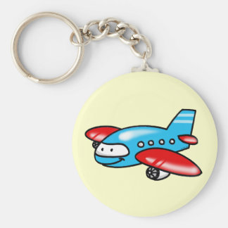 cartoon airplane key ring