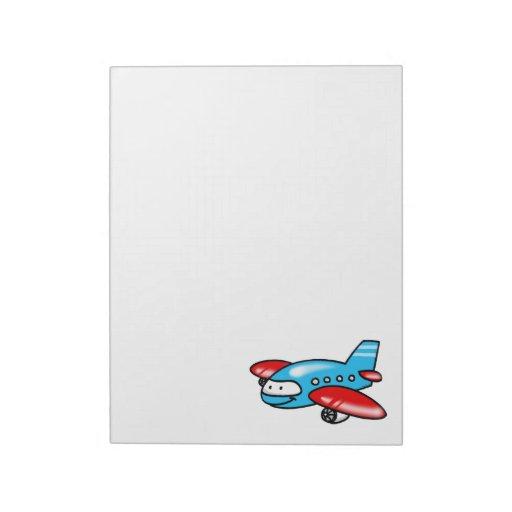 cartoon airplane memo notepad