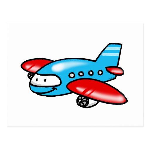 cartoon airplane postcards